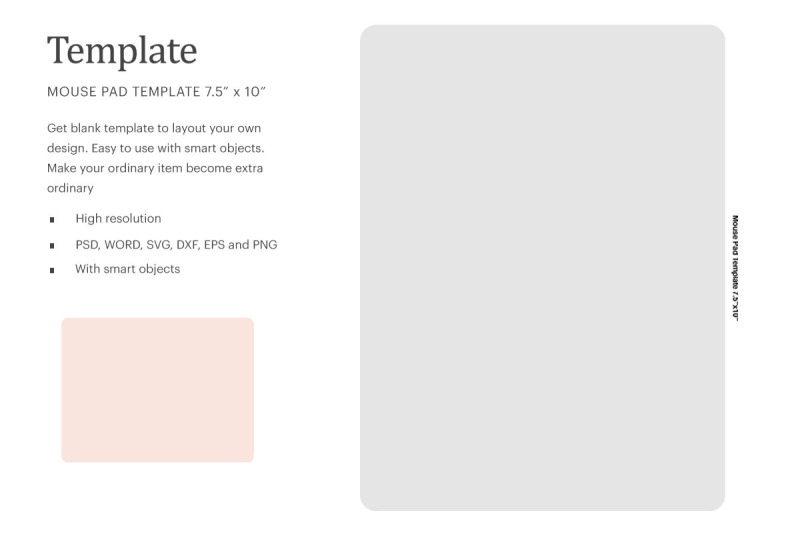 Download Mouse Pad Blank Template | Silhouette Studio | Cricut Silhouette Free Mockups