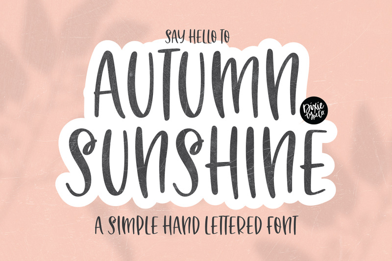 autumn-sunshine-brush-font