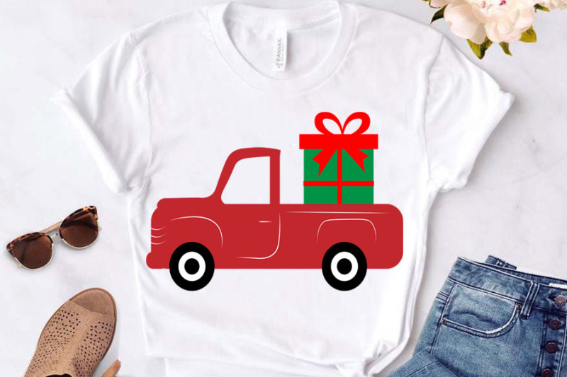 christmas-svg-gift-box-and-red-truck-svg