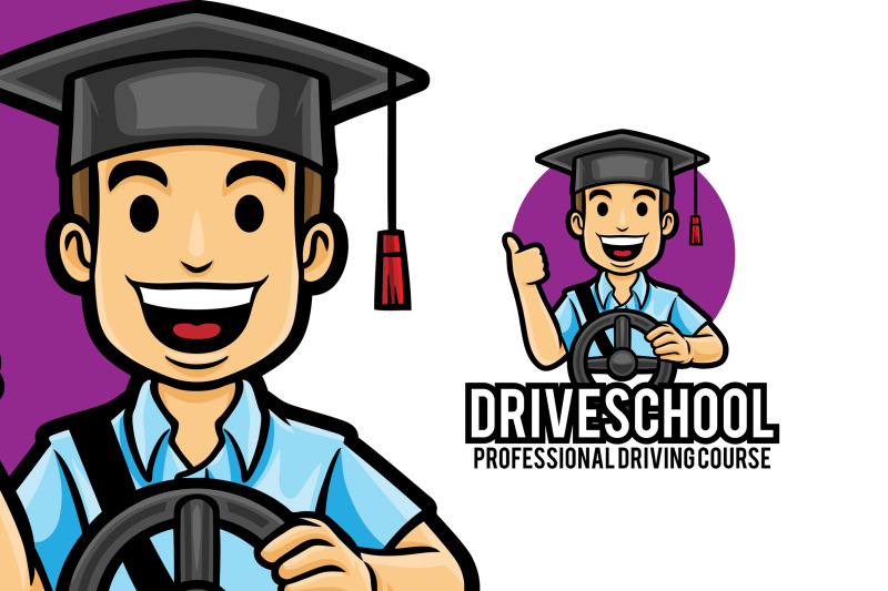 driving-lessons-car-course-logo-template