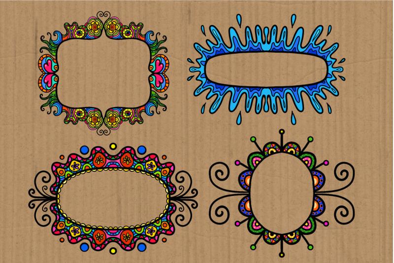 decorative-folk-art-doodle-border-frames