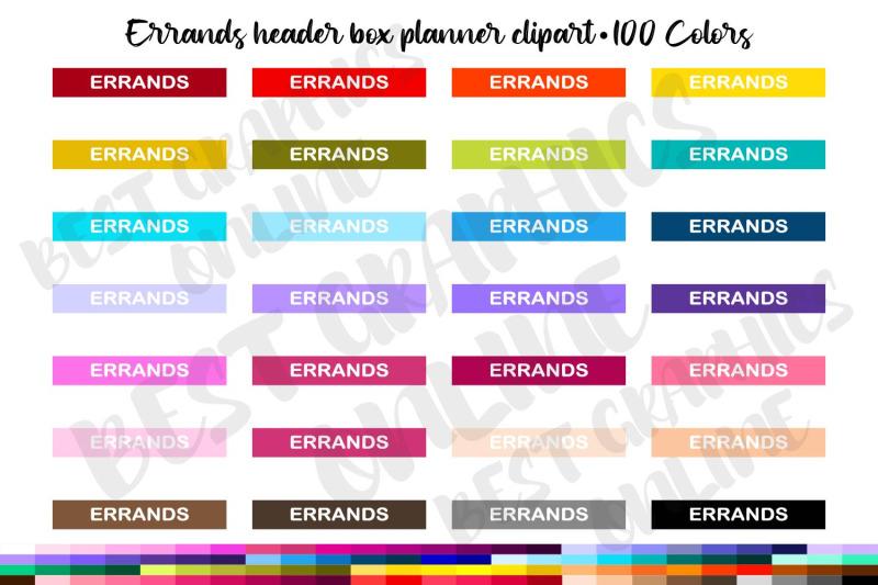 100-errands-planner-stickers-clipart