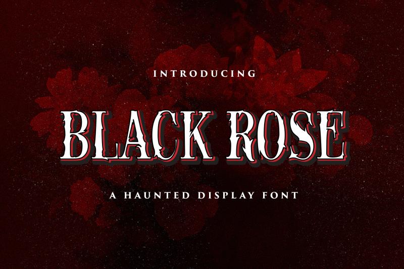 black-rose-haunted-display-font