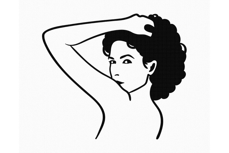 afro-looking-over-shoulder-svg-png-dxf-clipart-eps-vector