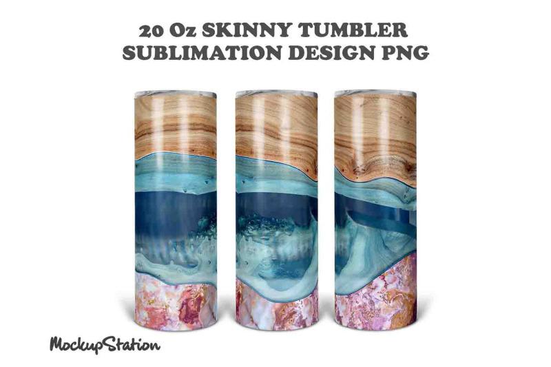 wooden-marble-20oz-skinny-tumbler-design-sublimation-png