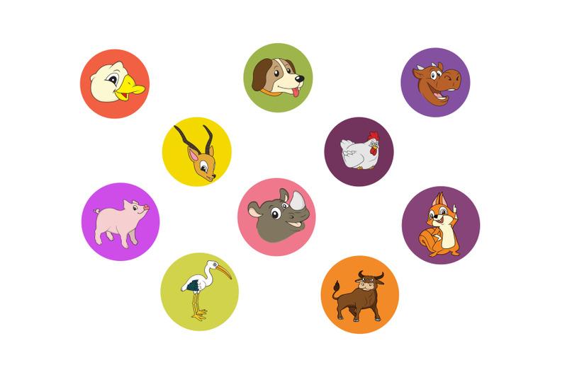cartoon-animals-icon-bundle