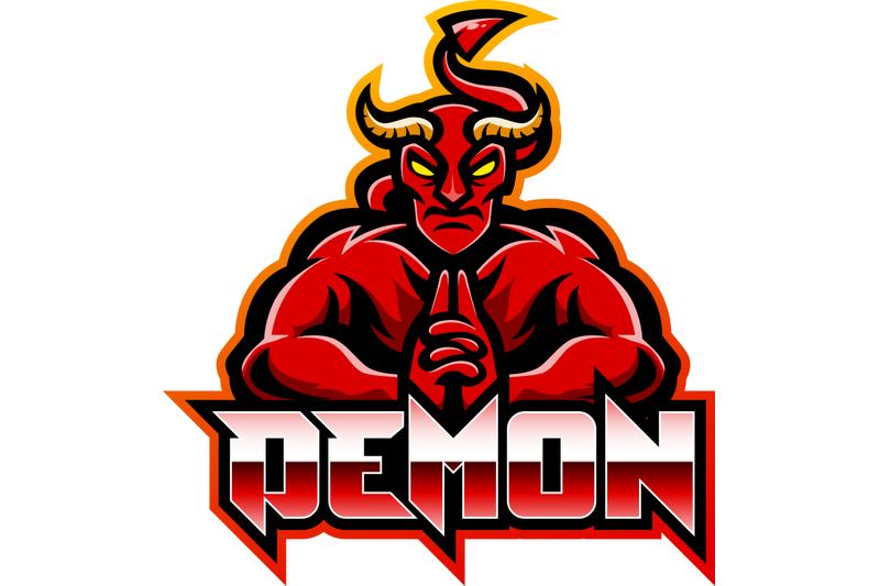 demon-esport-mascot-logo-design
