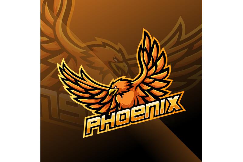 phoenix-esport-mascot-logo-design