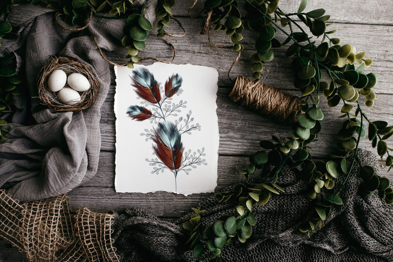 bohemian-mood-feathers-set