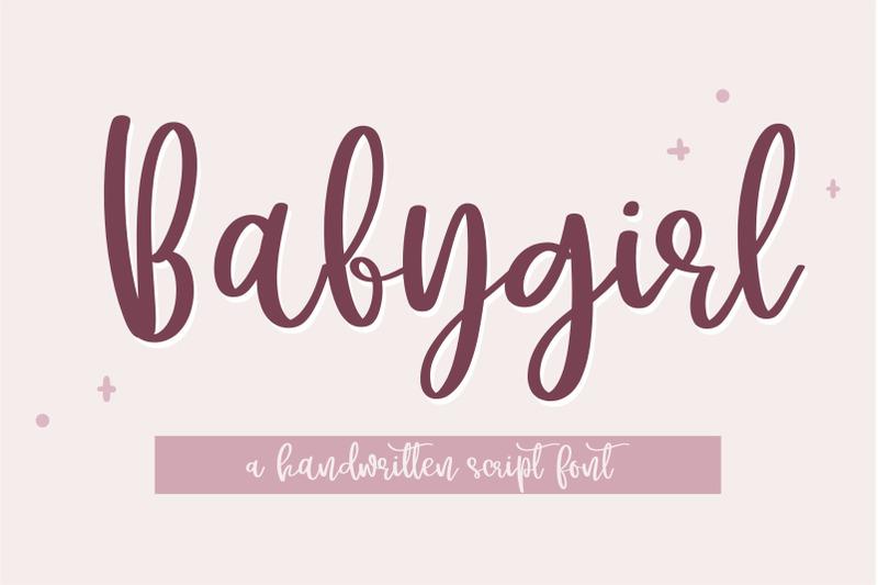 babygirl-a-cutey-handwritten-script-font
