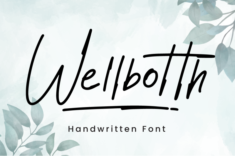 wellbotth-handwritten-font