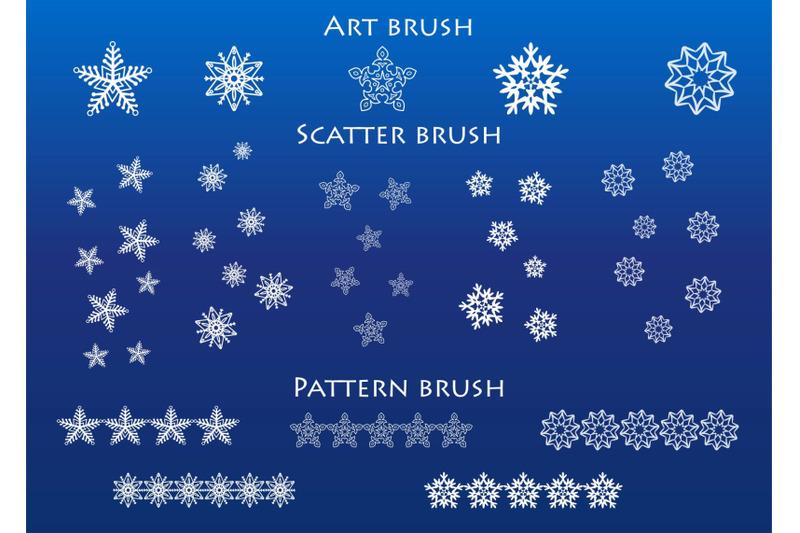 snowflake-brushes-for-adobe-illustrator