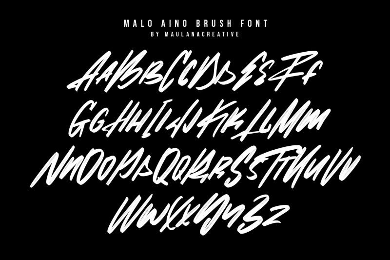 malo-aino-graffiti-brush-font
