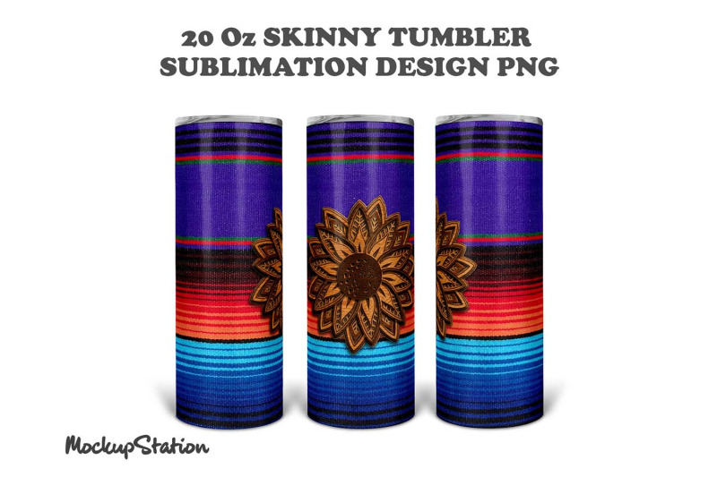 serape-sunflower-20oz-skinny-tumbler-design-sublimation-png
