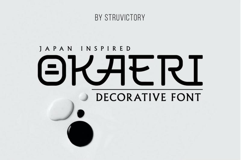 okaeri-japan-inspired-display-font
