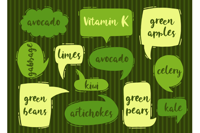 vitamin-k-organic-food-set