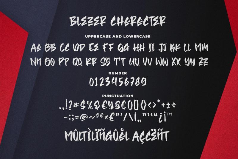 blezer-brush-font