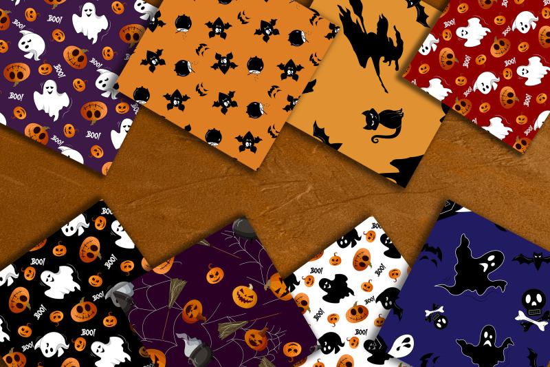 halloween-seamless-patterns-collection
