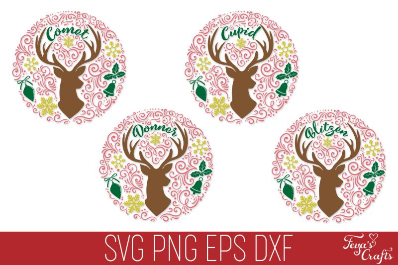 reindeer-names-svg-pack-round-christmas-svg-ornaments