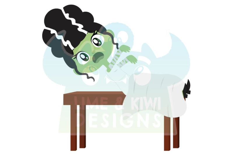 bride-of-frankenstein-clipart-lime-and-kiwi-designs