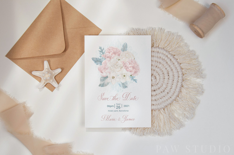white-pink-flowers-winter-leaves-wedding-bride-clipart