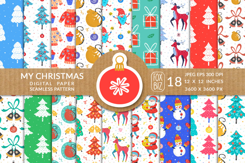 christmas-seamless-patterns-digital-paper