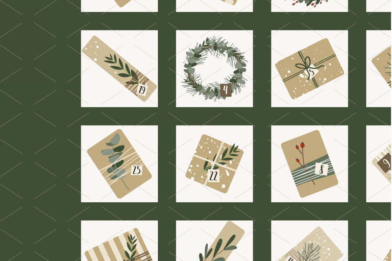 advent-calendar-2021-gifts-wreaths-xmas-and-new-year-25-days