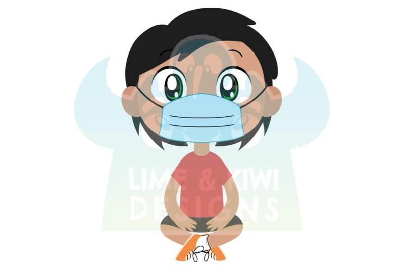 school-kids-with-face-masks-clipart-lime-and-kiwi-designs