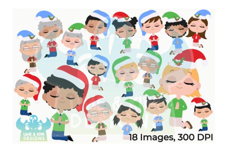 christmas-praying-people-clipart-lime-and-kiwi-designs