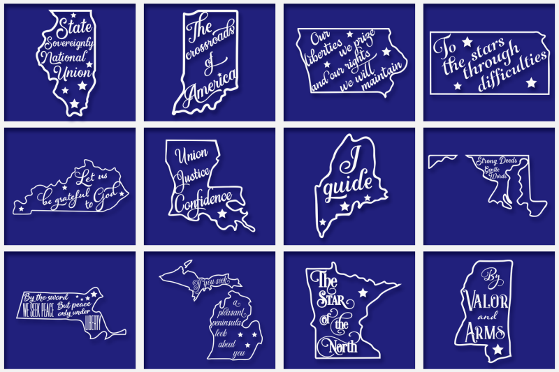 us-states-svg-mottos-bundle-usa-cut-files-cricut