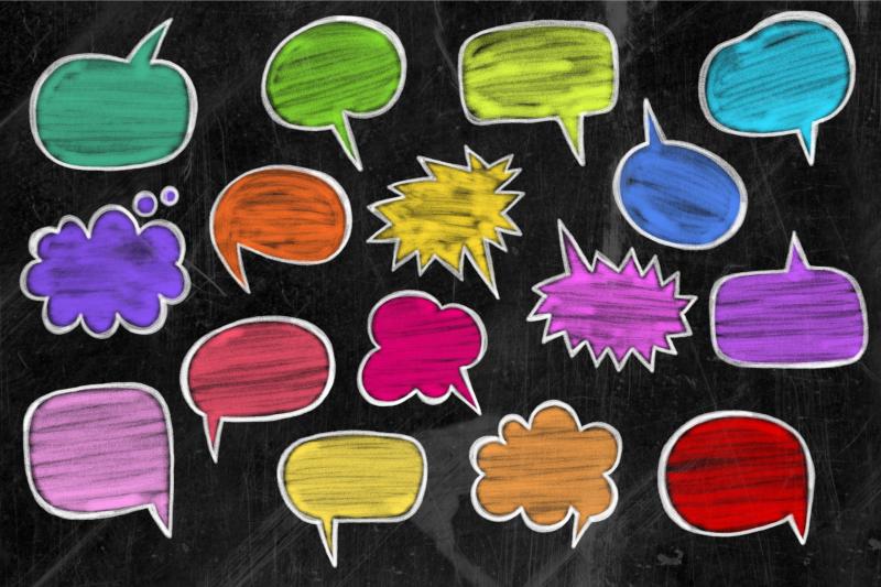 chalk-board-word-bubbles-speech-clipart