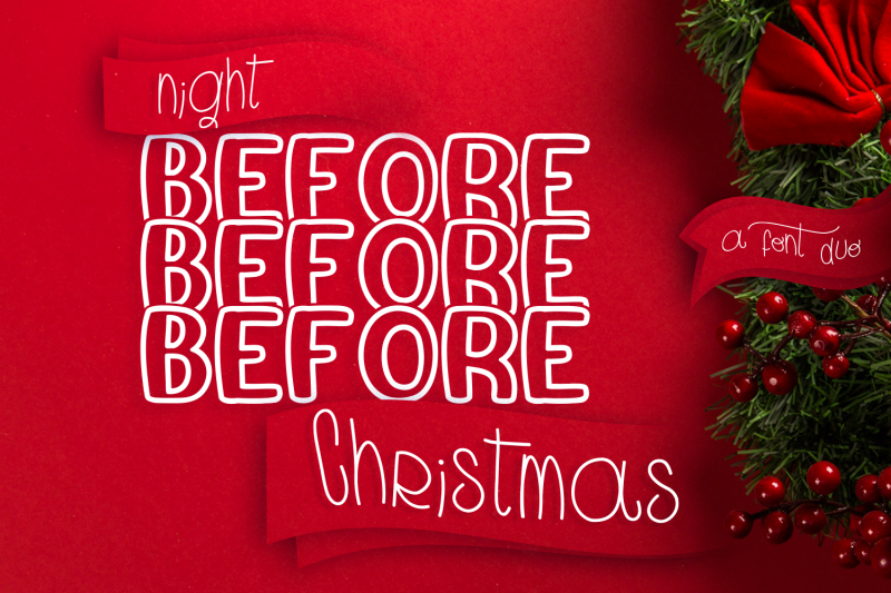 night-before-christmas-mirror-font
