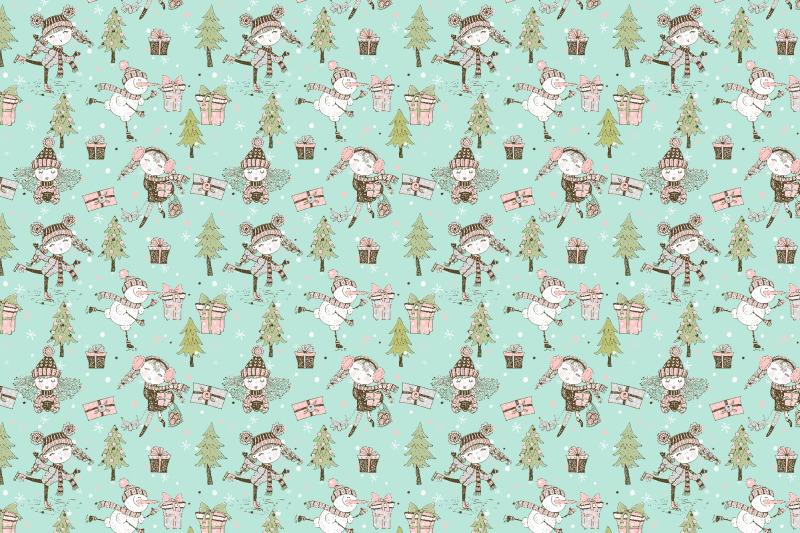 cute-girls-winter-digital-clipart-in-doodle-style