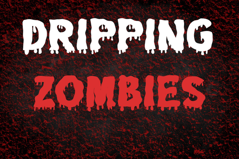 dripping-zombie-halloween-font