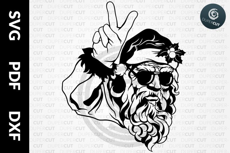 santa-sunglasses-papercutting-template-cutting-file