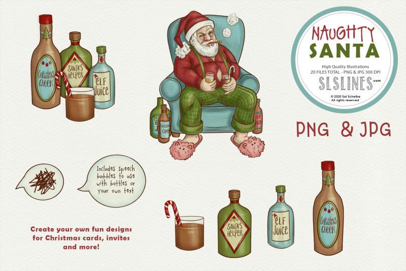 naughty-santa-chrismtas-illustrations