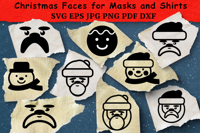 christmas-faces-for-masks-and-shirts-svg-bundle-cut-files