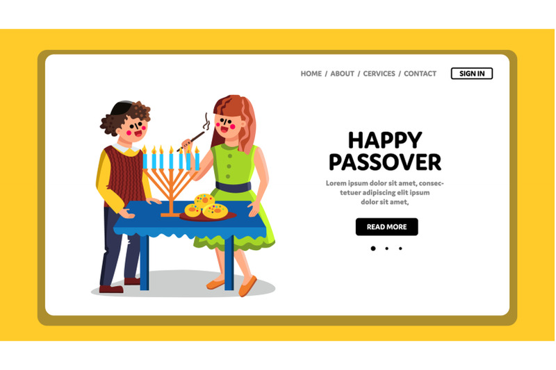 happy-passover-family-couple-celebration-vector