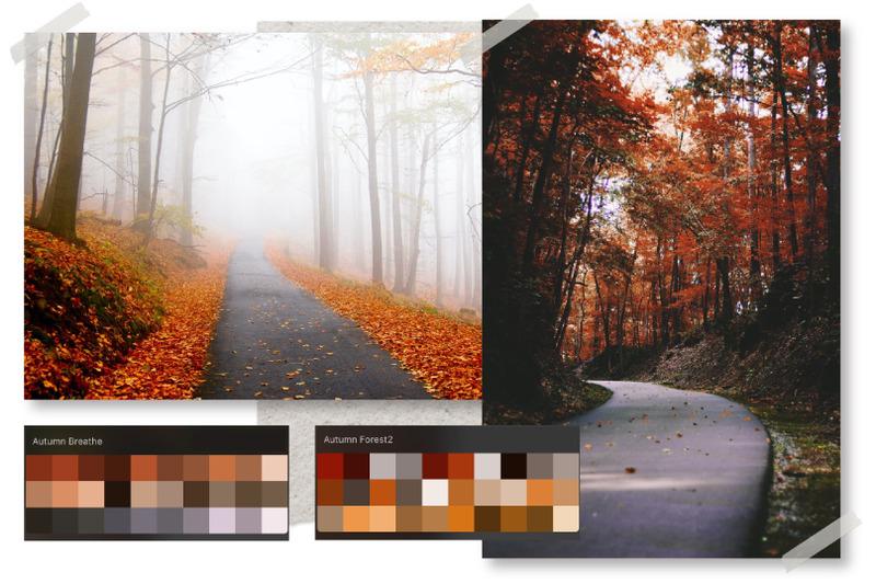 autumn-procreate-color-palette-autumn-pumpkin-swatches
