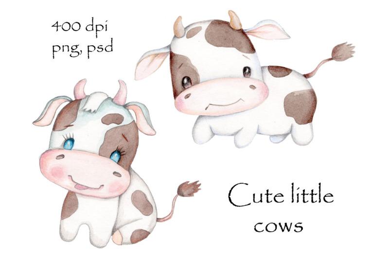 cute-little-cows-watercolor