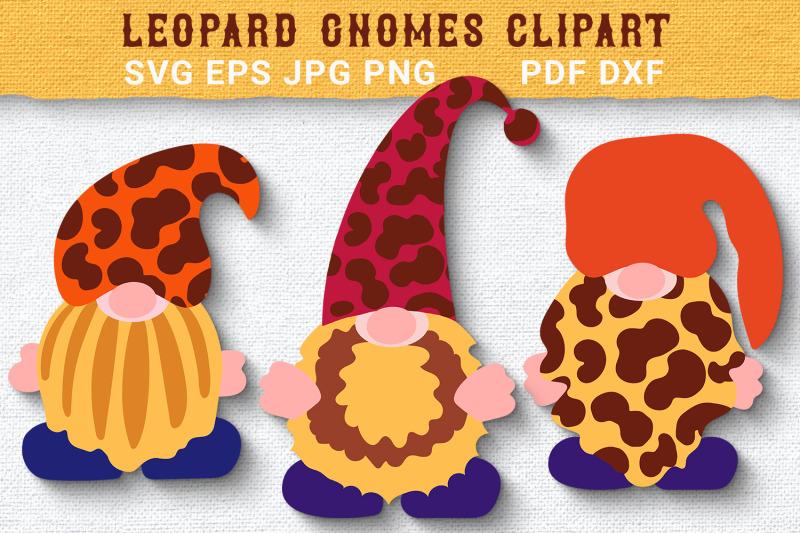 trendy-leopard-gnomes-svg-clipart-cut-files