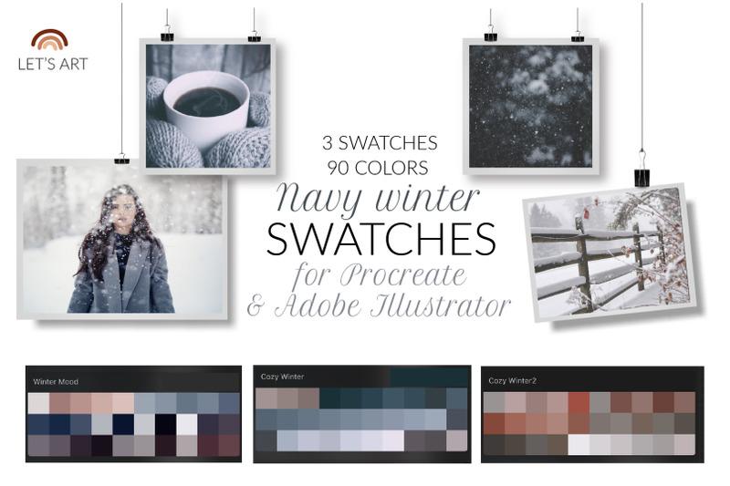 navy-winter-procreate-and-adobe-illustrator-color-palette-winter-proc