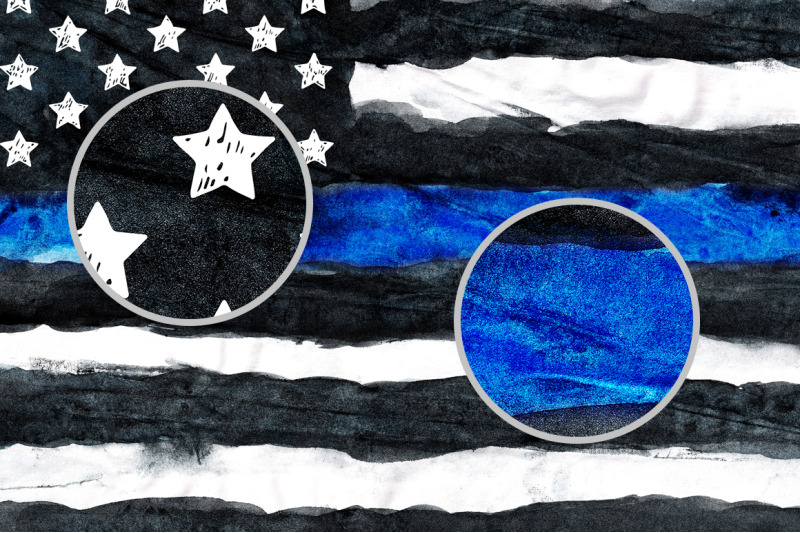 police-torn-flag-watercolor