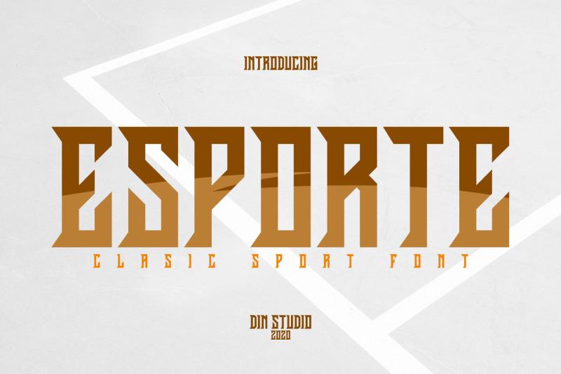esporte-classic-sport-font