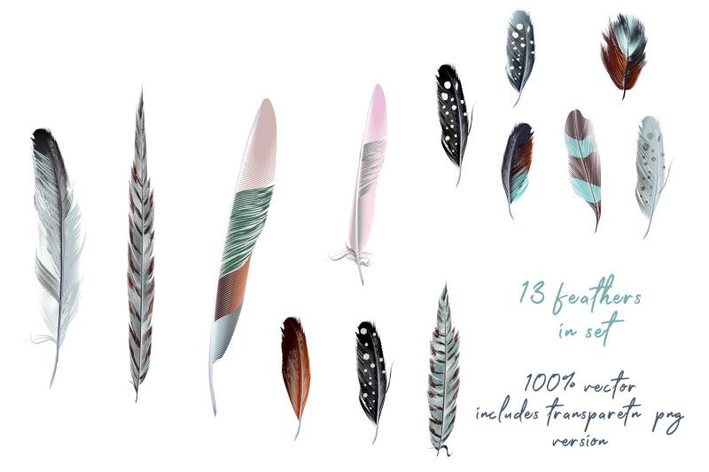 bohemian-mood-vector-feathers-set