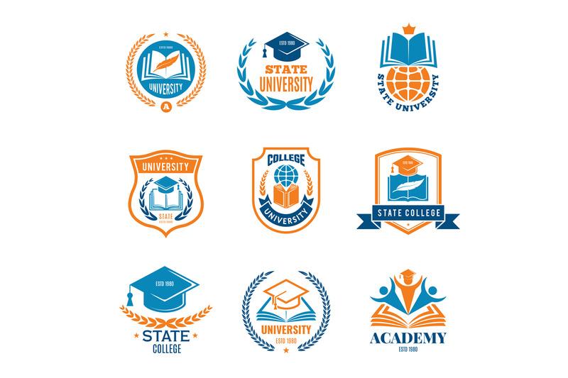 university-badges-school-business-identity-quality-emblem-college-vec