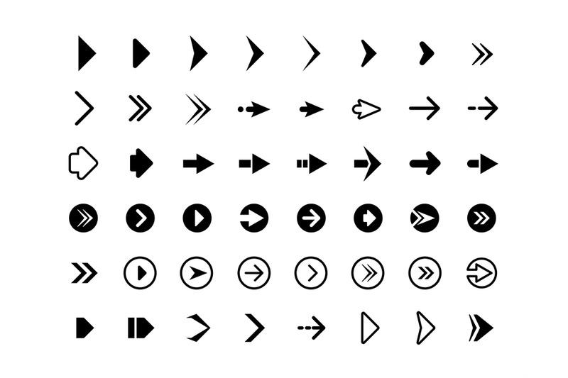 web-arrows-symbols-for-website-direction-arrows-signs-buttons-vector