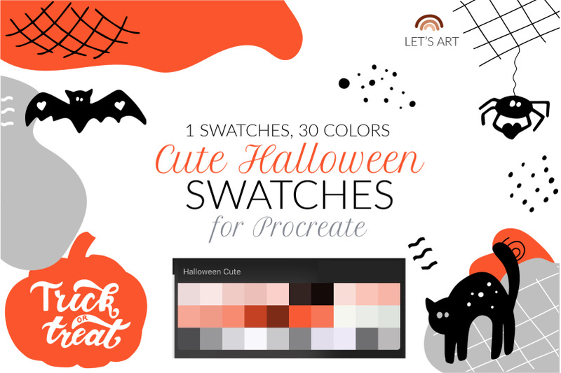 halloween-procreate-color-palette-halloween-swatches