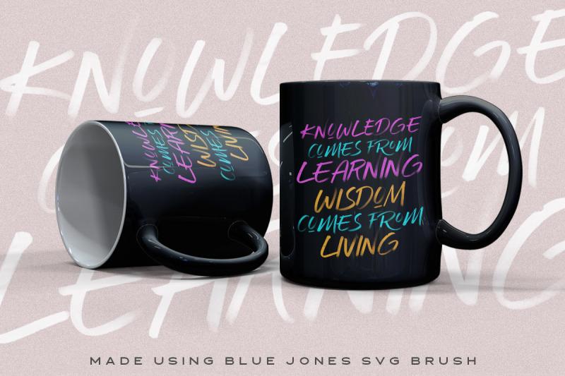blue-jones-svg-font