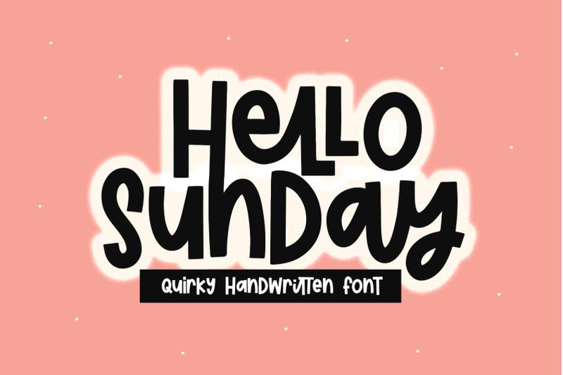 hello-sunday-fun-handwritten-font